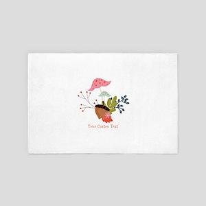 Cute Autumn Bouquet Personalized 4' x 6' Rug