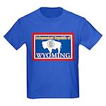 Wyoming-4 Kids Dark T-Shirt