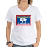 Wyoming-4 Women's V-Neck T-Shirt