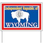 Wyoming-4 Yard Sign