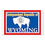 Wyoming-4 Rectangle Sticker