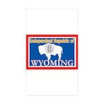 Wyoming-4 Rectangle Sticker 50 pk)
