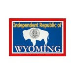 Wyoming-4 Rectangle Magnet (10 pack)