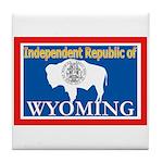 Wyoming-4 Tile Coaster