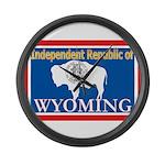 Wyoming-4 Large Wall Clock