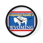 Wyoming-4 Wall Clock