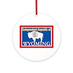 Wyoming-4 Ornament (Round)