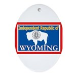 Wyoming-4 Oval Ornament