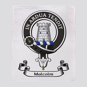 Badge-Malcolm Throw Blanket