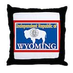 Wyoming-4 Throw Pillow