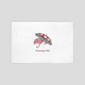 Chic Personalized Umbrella 4' x 6' Rug
