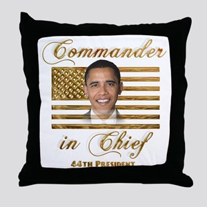Commander in Chief Throw Pillow