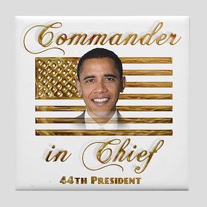 Commander in Chief Tile Coaster