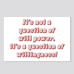 Willingness (red) Postcards (Package of 8)