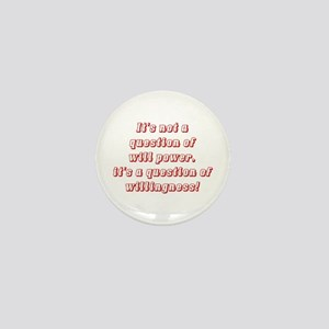 Willingness (red) Mini Button (10 pack)
