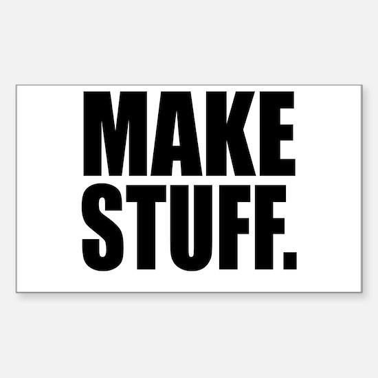 """Make Stuff"" Rectangle Decal"