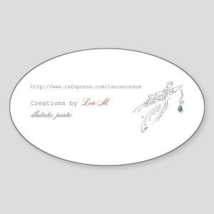 """About Lore M, painter, illus Oval Sticker"