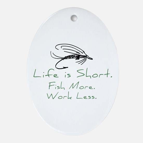 Fly Fishing Oval Ornament