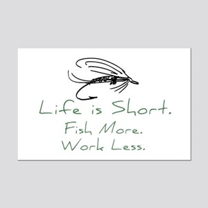 Fly Fishing Mini Poster Print