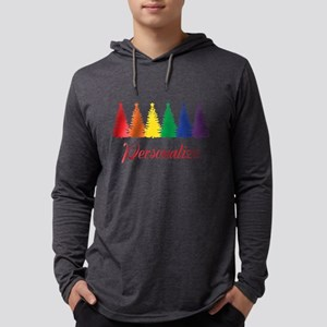 Rainbow XMas Trees Long Sleeve T-Shirt