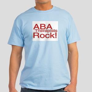 ABA Therapists Rock! Light T-Shirt