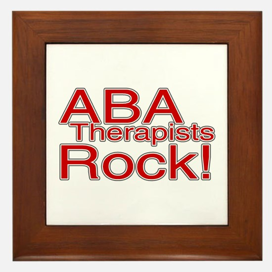 ABA Therapists Rock! Framed Tile