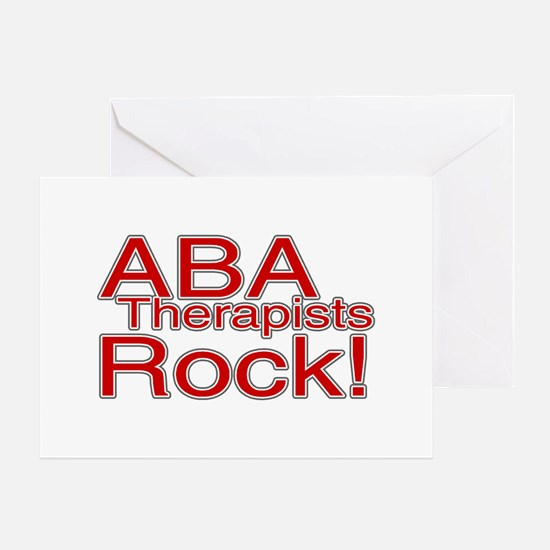 ABA Therapists Rock! Greeting Card
