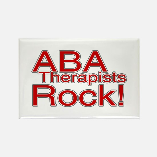 ABA Therapists Rock! Rectangle Magnet