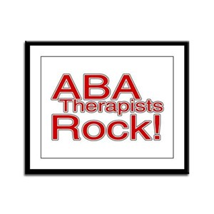 ABA Therapists Rock! Framed Panel Print