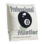 8 Ball Hustler Burlap Throw Pillow
