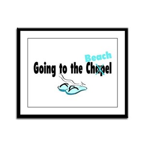 Going To The Chapel (Beach) Framed Panel Print