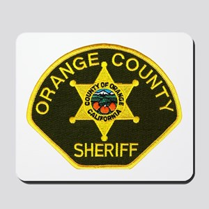 Orange Sheriff Mousepad