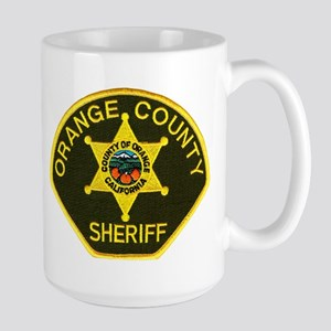 Orange Sheriff Large Mug