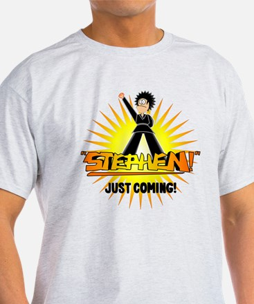 Stephen Just Coming (white trans) T-Shirt