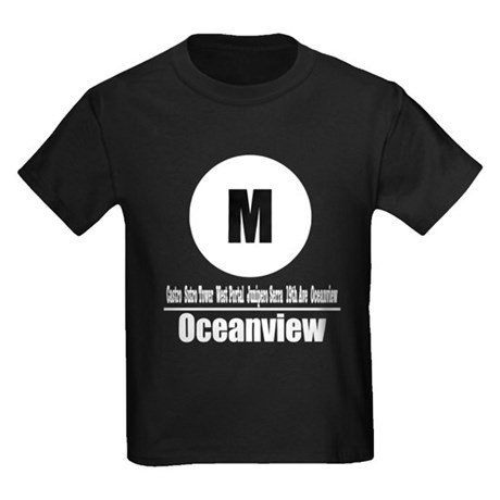 M Oceanview (Classic) Kids Dark T-Shirt