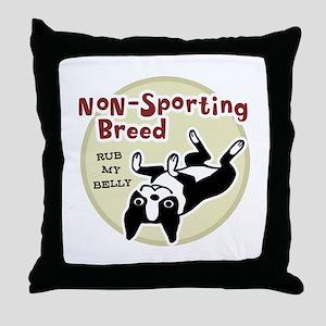 Boston Terrier Nonsporting Throw Pillow