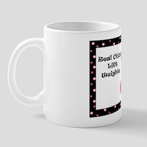 Real chics lift wieghts Mug