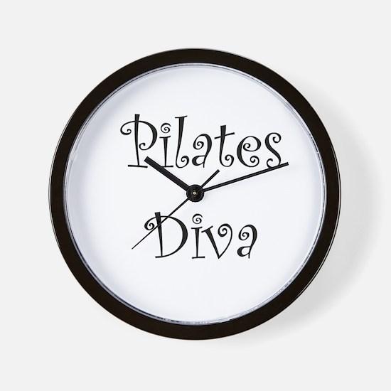 Pilates Diva Wall Clock