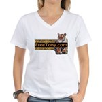 Free Tony The Tiger Women's V-Neck T-Shirt