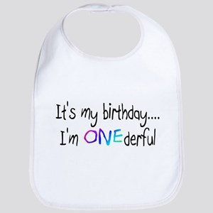 It's My Birthday, I'm One-derful Bib