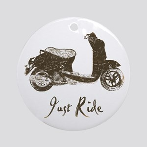 Just Scoot Ornament (Round)