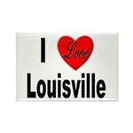 I Love Louisville Kentucky Rectangle Magnet (10 pa