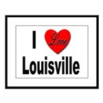 I Love Louisville Kentucky Large Framed Print