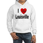 I Love Louisville Kentucky (Front) Hooded Sweatshi