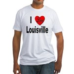 I Love Louisville Kentucky (Front) Fitted T-Shirt