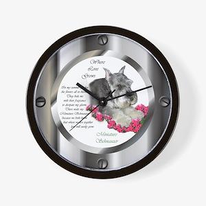 Miniature Schnauzer Wall Clock