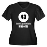 43 Masonic (Classic) Women's Plus Size V-Neck Dark