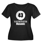 43 Masonic (Classic) Women's Plus Size Scoop Neck