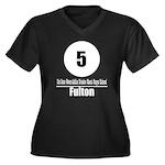 5 Fulton (Classic) Women's Plus Size V-Neck Dark T