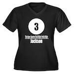 3 Jackson (Classic) Women's Plus Size V-Neck Dark
